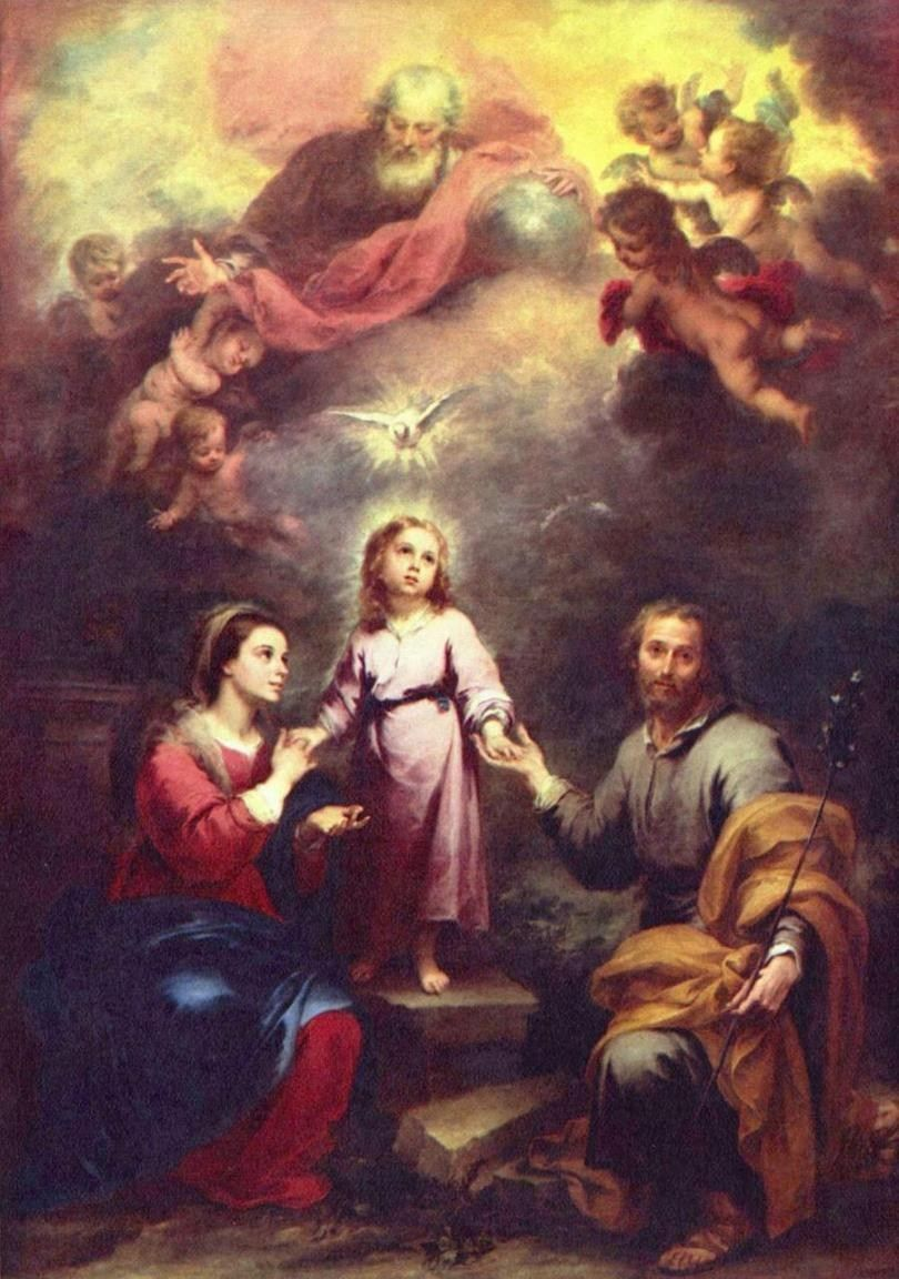 Bartolome Esteban Murillo Two Trinities