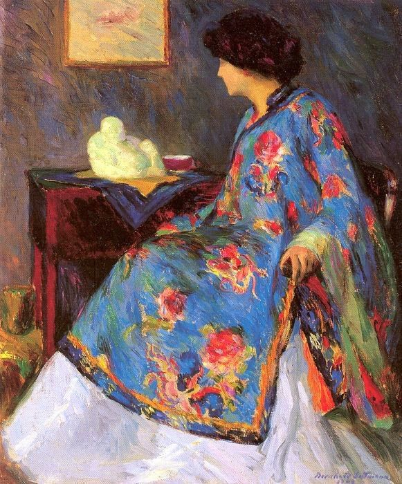 Bernhard Gutmann Lady in a Chinese Silk Jacket