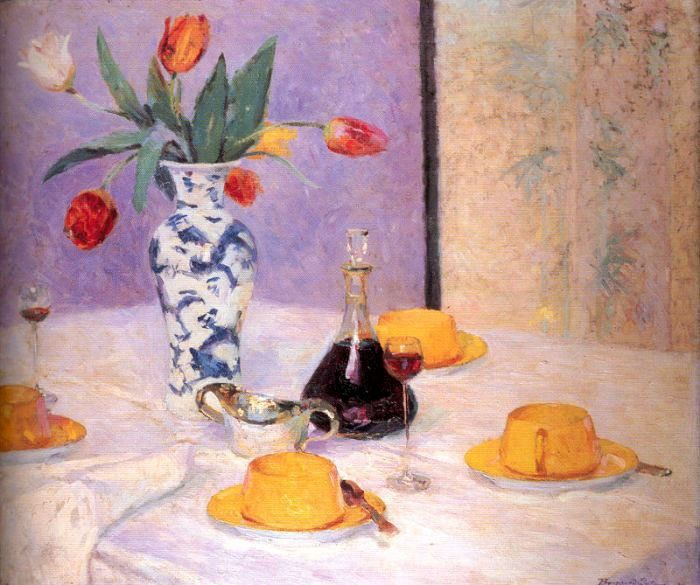 Bernhard Gutmann Tulips And Yellow Tea Service