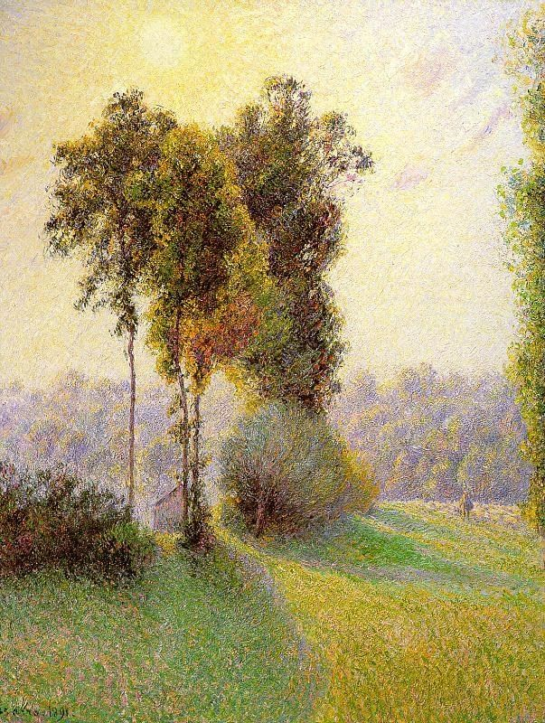Camille Pissarro Sunset at St. Charles Eragny