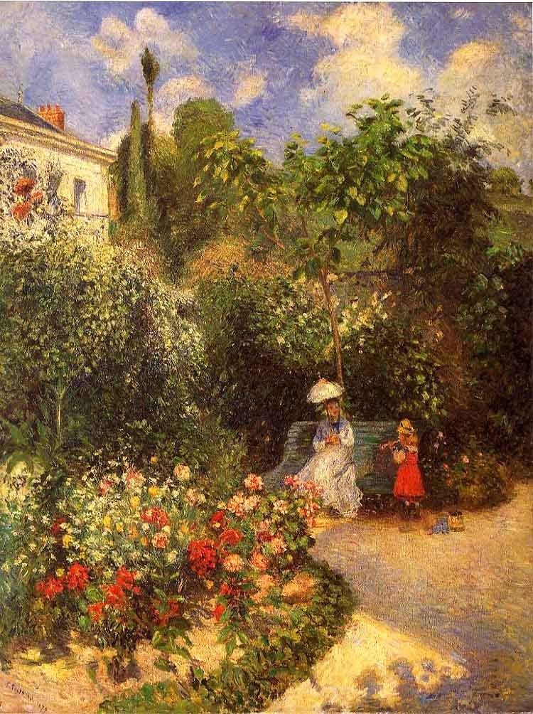 Camille Pissarro The garden at Pontoise 1877
