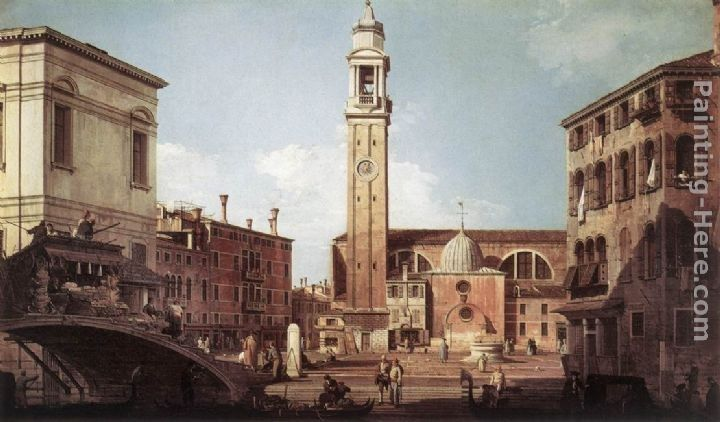 Canaletto View of Campo Santi Apostoli