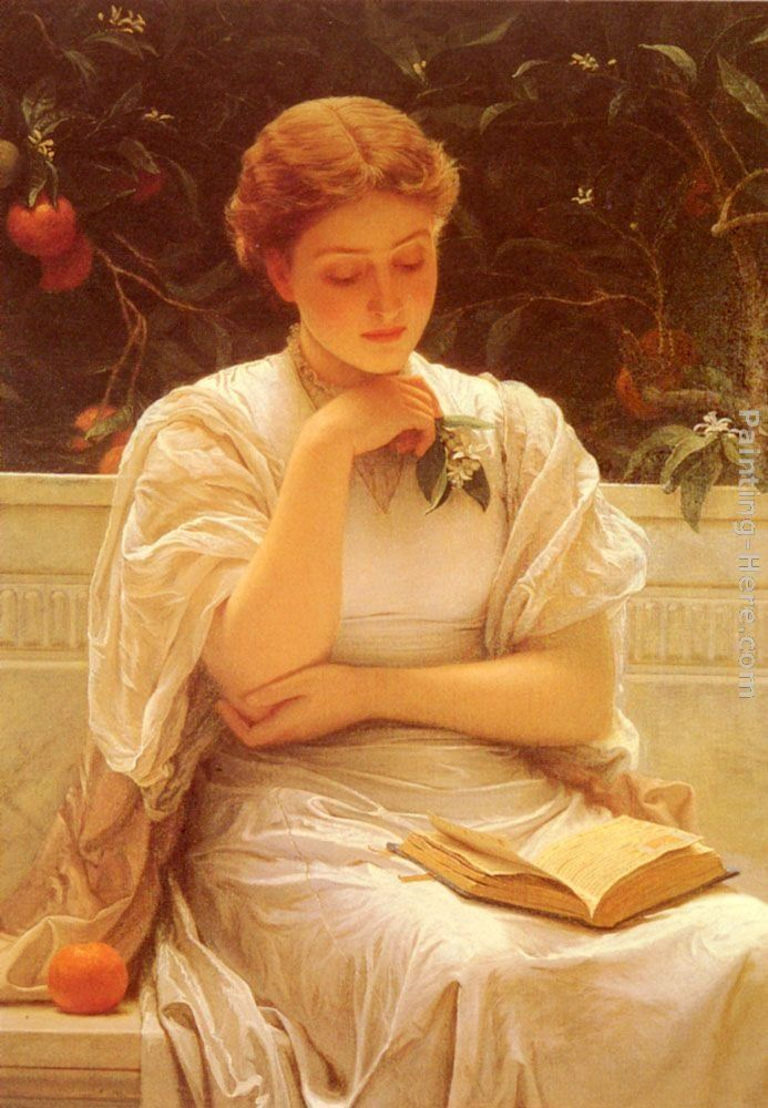 Charles Edward Perugini In The Orangery