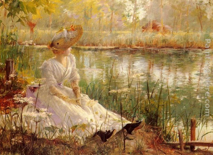 Charles James Theriat A Beauty By A River