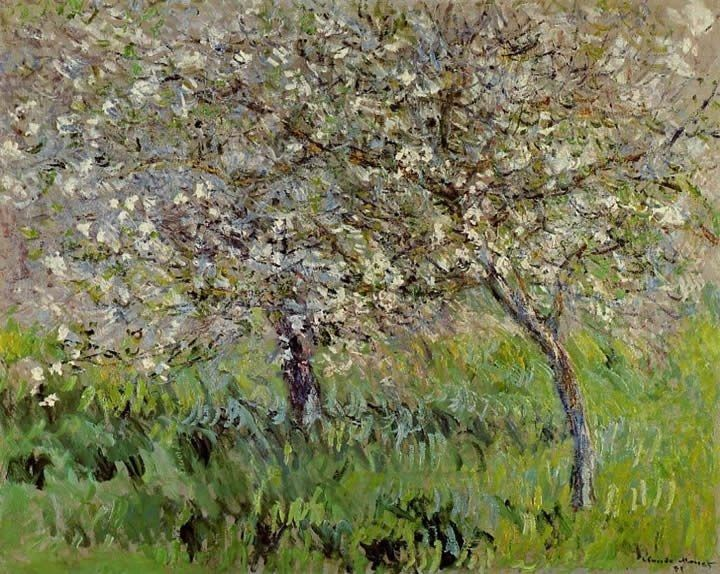 Claude Monet Apple Trees in Bloom at Giverny