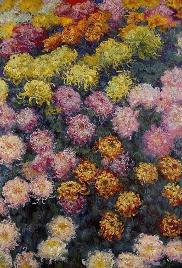 Claude Monet Bed of Chrysanthemums