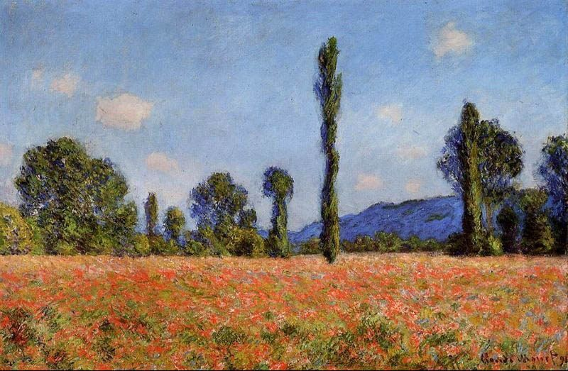 Claude Monet Poppy Field Giverny 2
