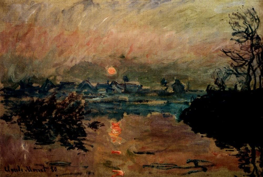 Claude Monet Sunset