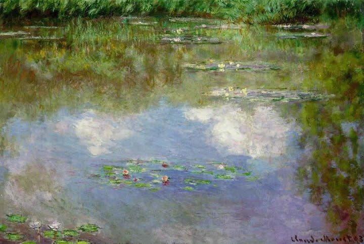 Claude Monet Water Lilies The Clouds