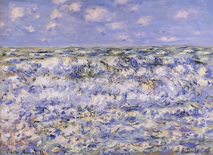 Claude Monet Waves Breaking