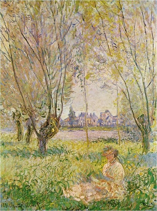 Claude Monet Woman Seated under the Willows