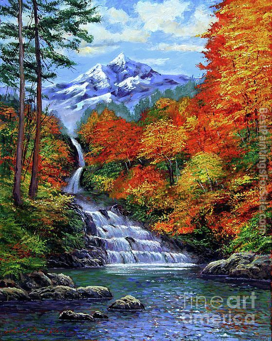David Lloyd Glover Deep Falls in Autumn