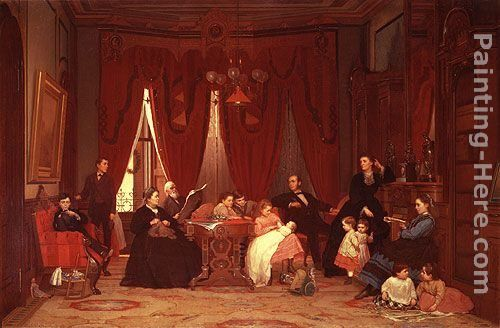 Eastman Johnson The Hatch Family
