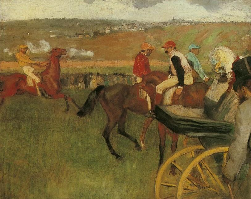 Edgar Degas At the Races Gentlemen Jockeys