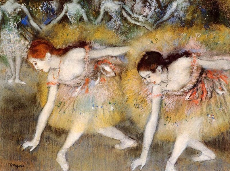 Edgar Degas Dancers Bending Down