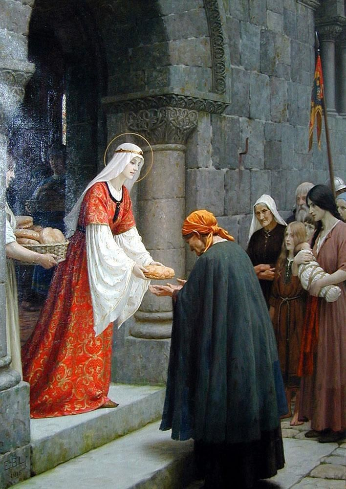 Edmund Blair Leighton The Charity of St