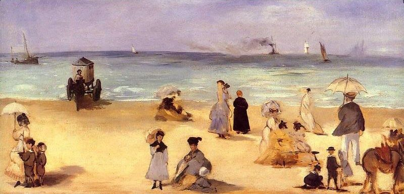 Edouard Manet On the Beach at Boulogne