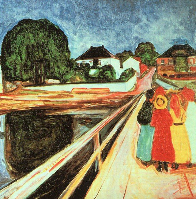 Edvard Munch Girls on a Bridge