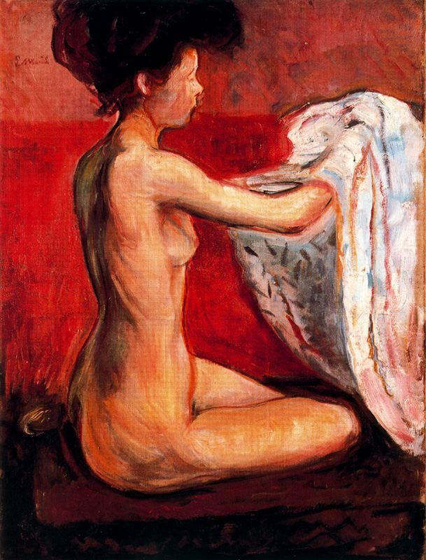 Edvard Munch Paris Nude
