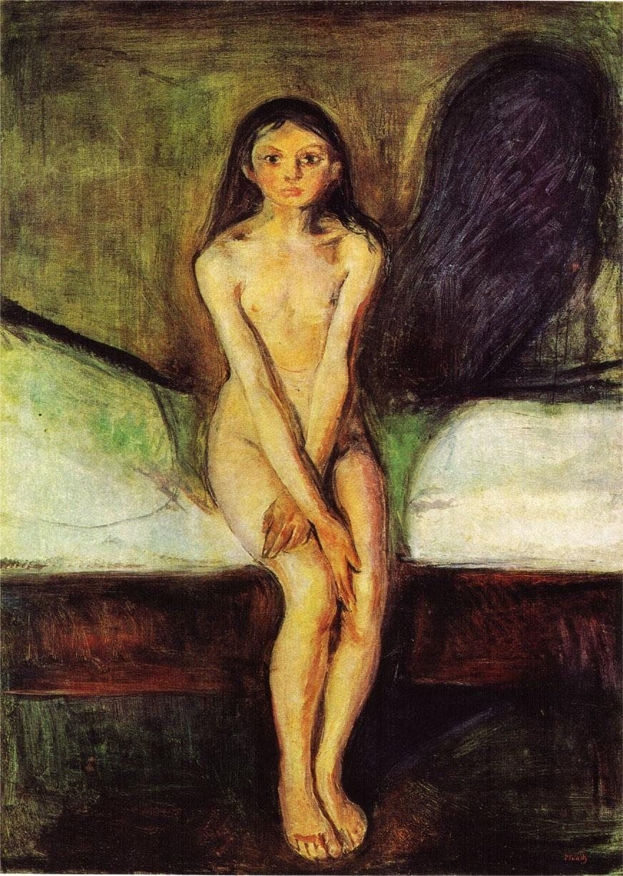 Edvard Munch Puberty
