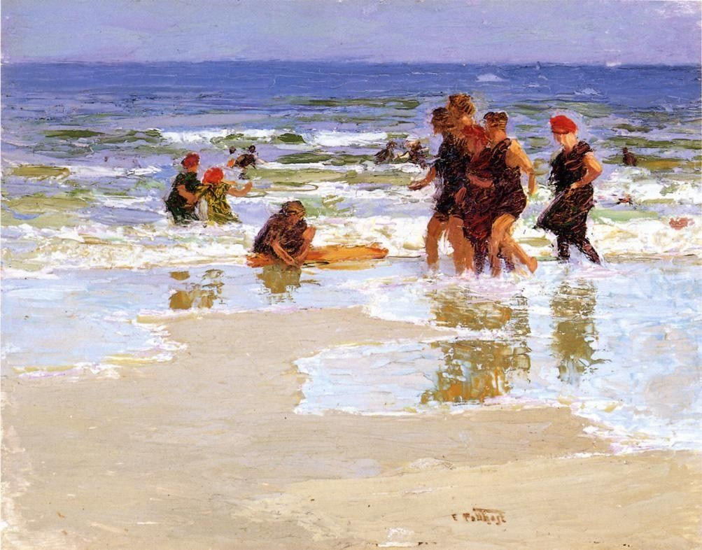 Edward Henry Potthast At the Seashore II