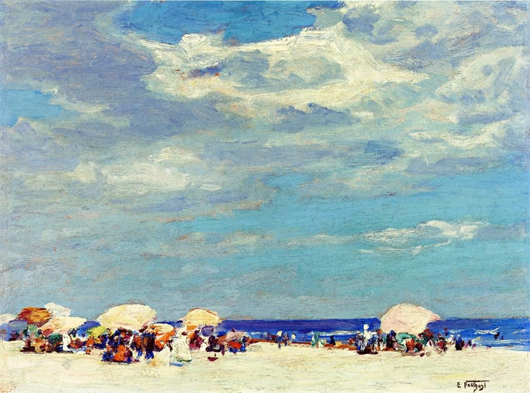 Edward Henry Potthast Beach Scene 2