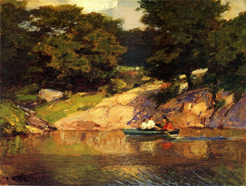 Edward Henry Potthast Boating in Central Park