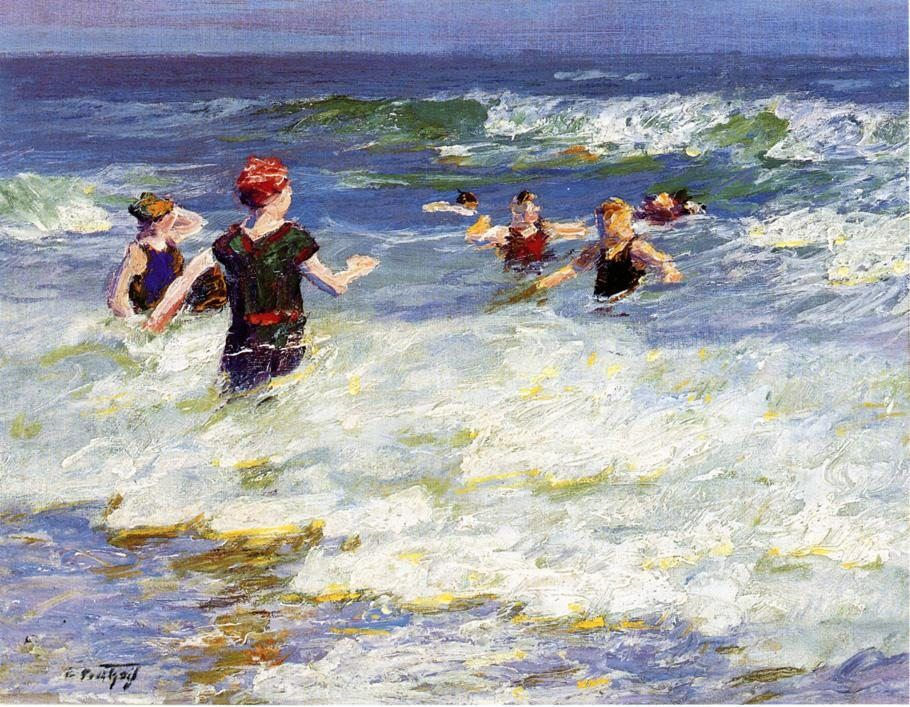 Edward Henry Potthast In the Surf 1