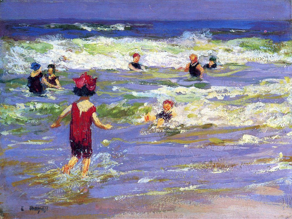 Edward Henry Potthast Little Sea Bather