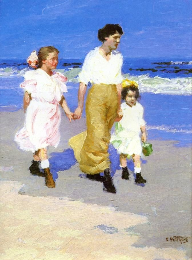 Edward Henry Potthast On the Beach