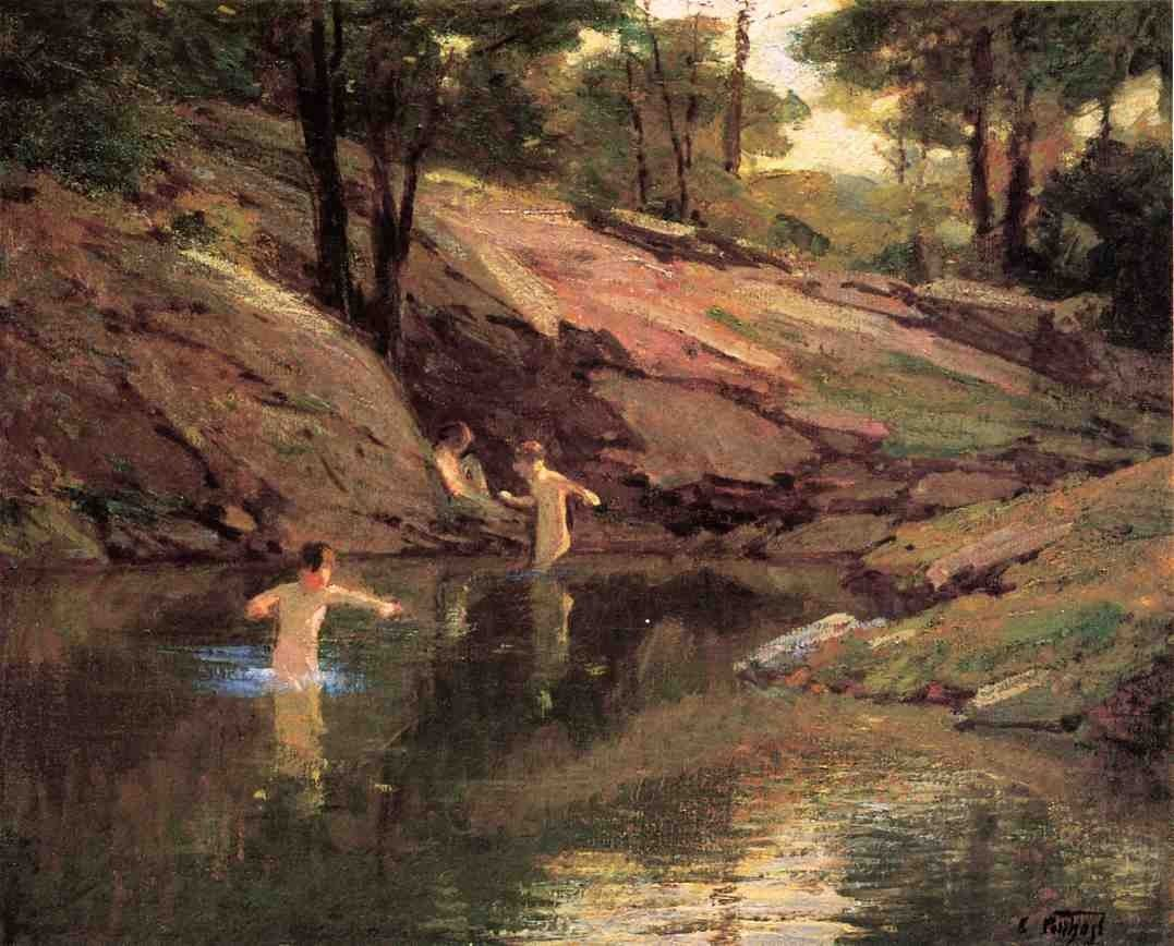 Edward Henry Potthast The Swimming Hole