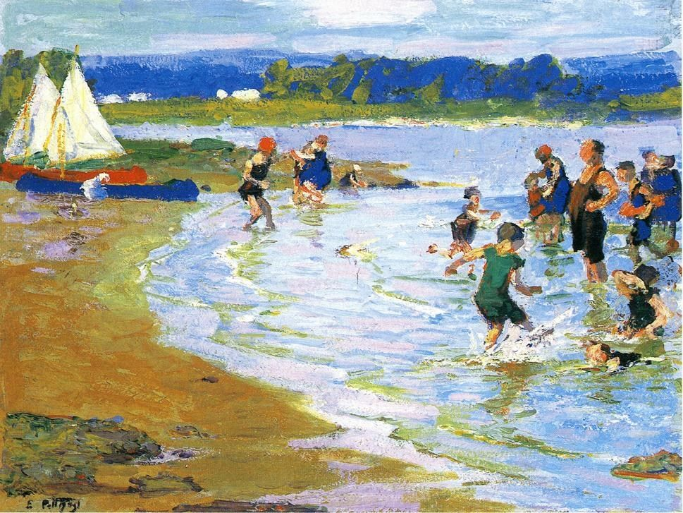 Edward Henry Potthast The White Sails