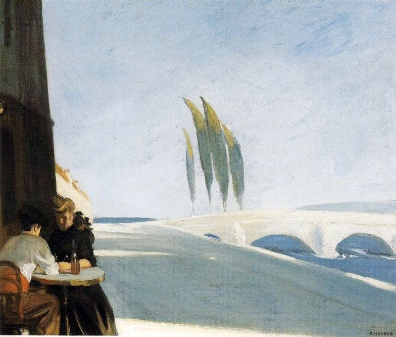 Edward Hopper Le Bistro or The Wine Shop
