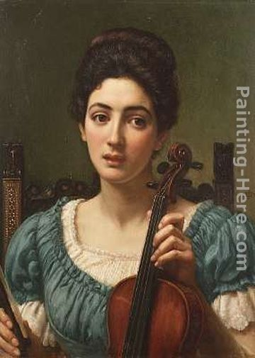 Edward John Poynter The Violinist