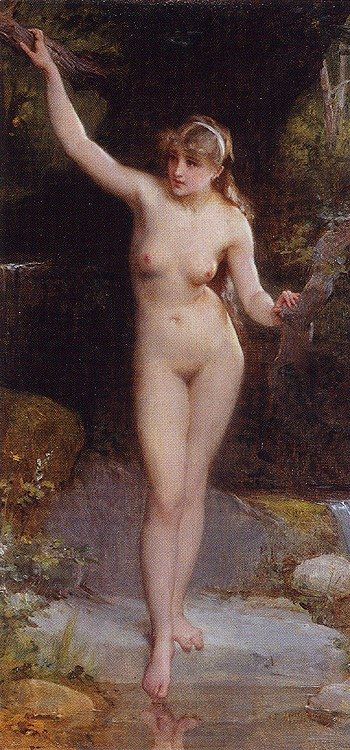 Emile Munier La Baigneuse The Bather