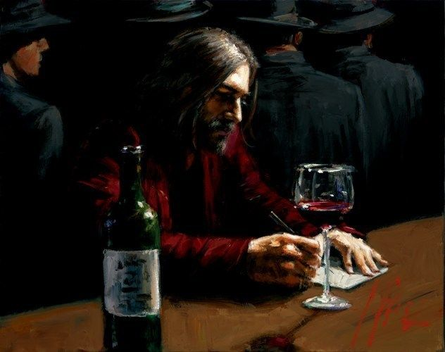Fabian Perez Man at the Bar