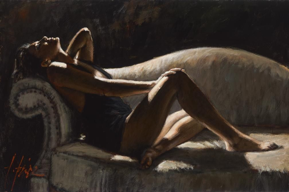 Fabian Perez paola on the couch