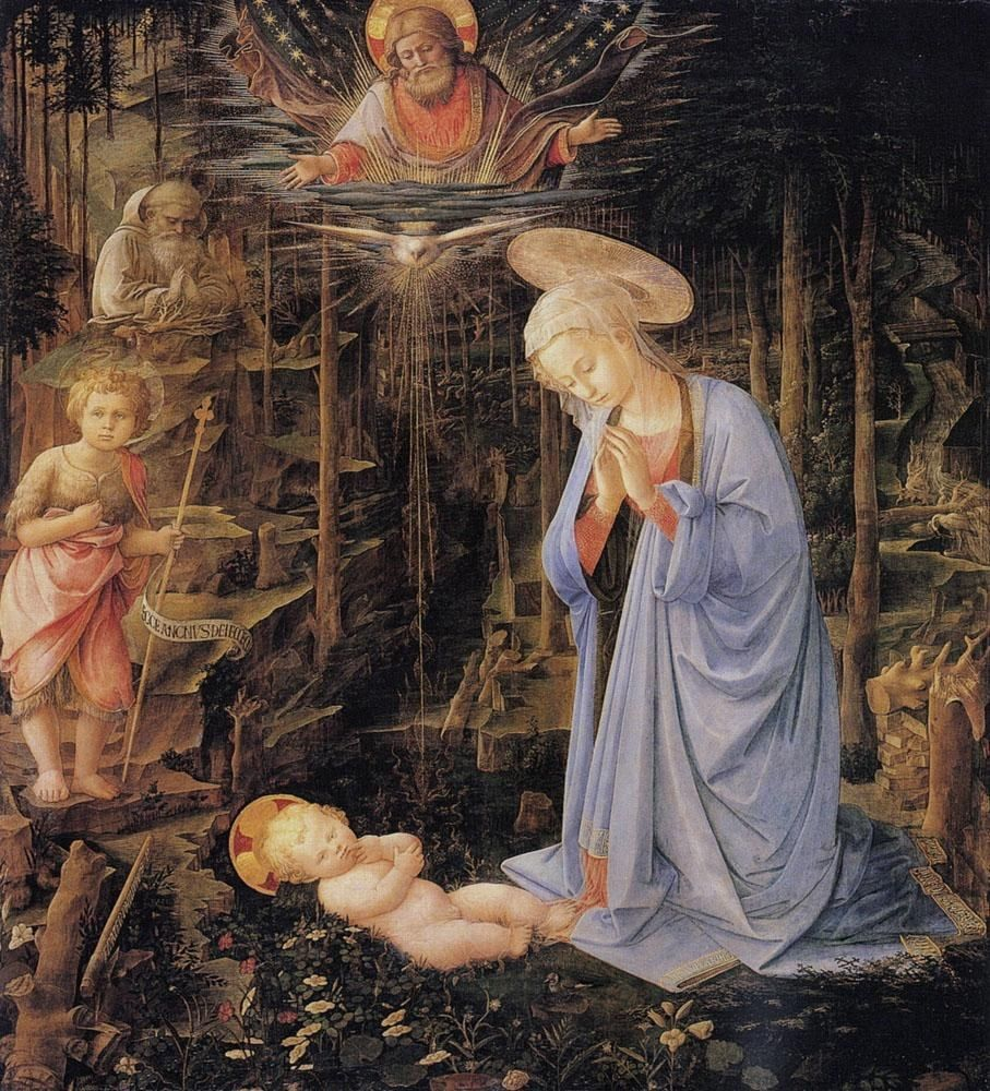 Filippino Lippi The Adoration with the Infant St