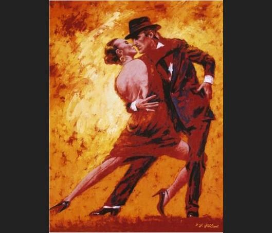 Flamenco Dancer Terence Gilbert Golden Tango