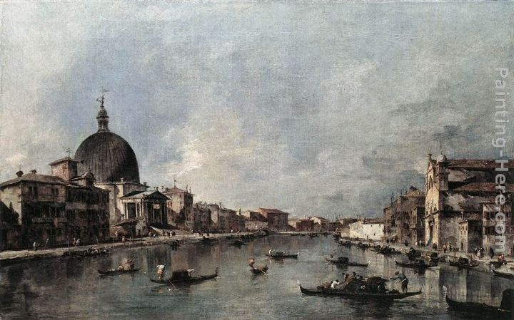 Francesco Guardi The Grand Canal with San Simeone Piccolo and Santa Lucia
