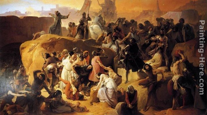 Francesco Hayez Crusaders Thirsting near Jerusalem
