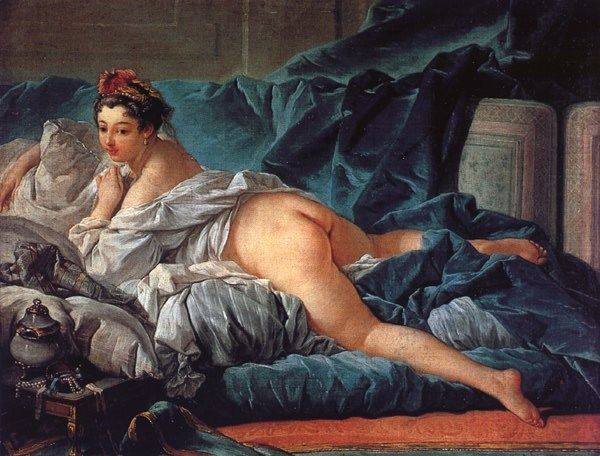Francois Boucher Brown Odalisk