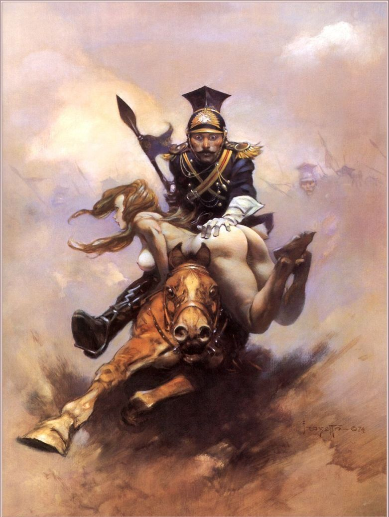 Frank Frazetta Flashman on the Charge