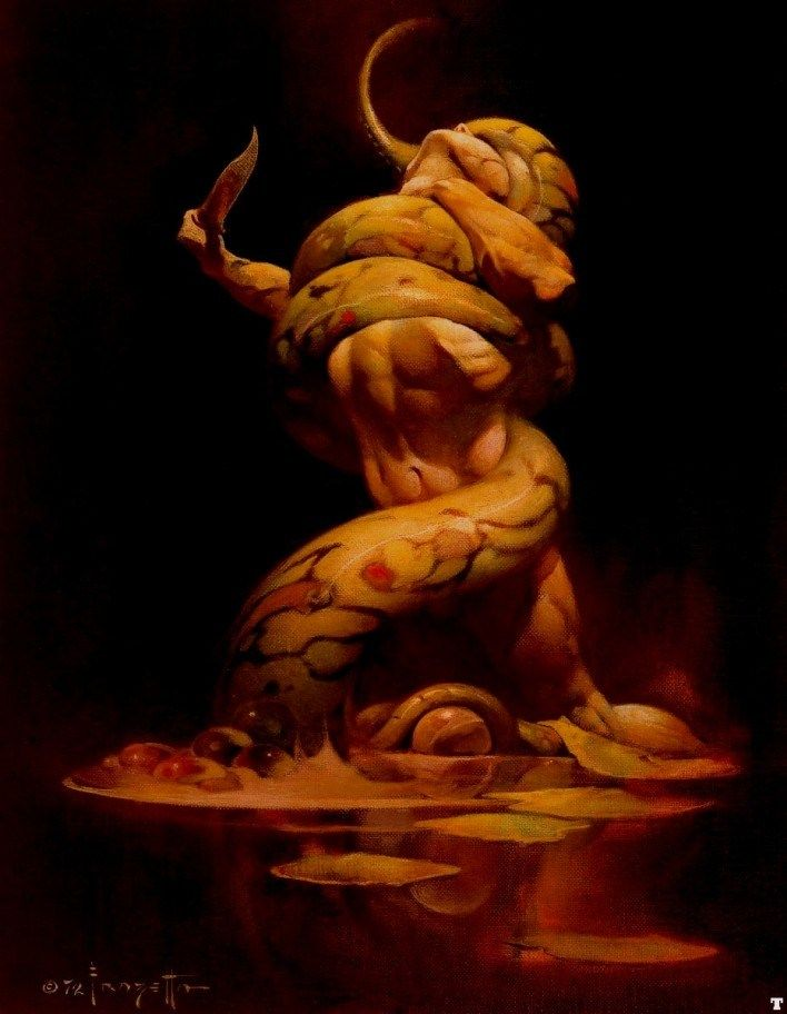 Frank Frazetta Serpent