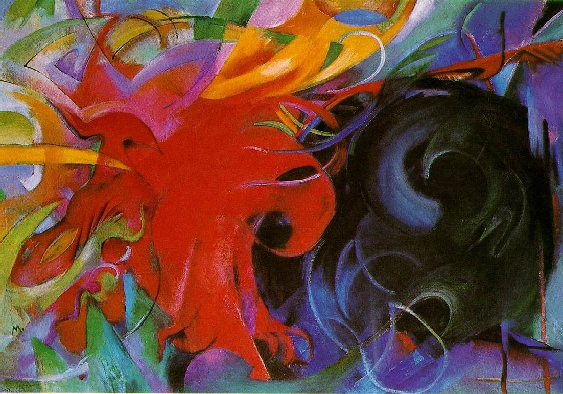 Franz Marc fighting forms