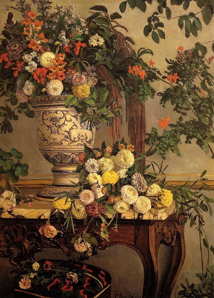 Frederic Bazille Flowers