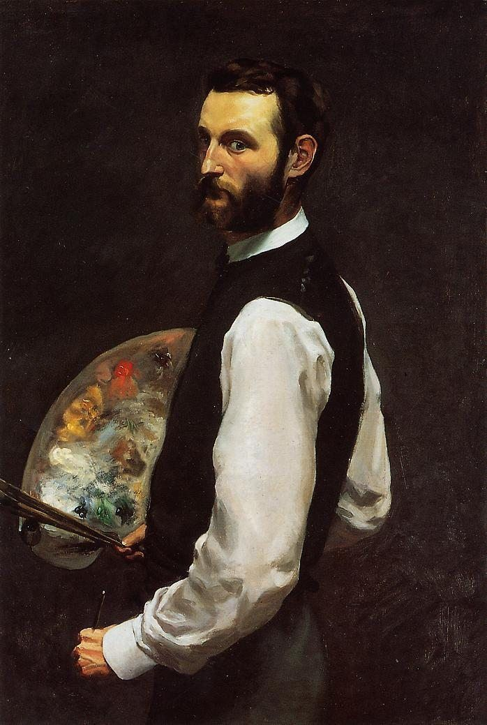 Frederic Bazille Self-Portrait with Palette