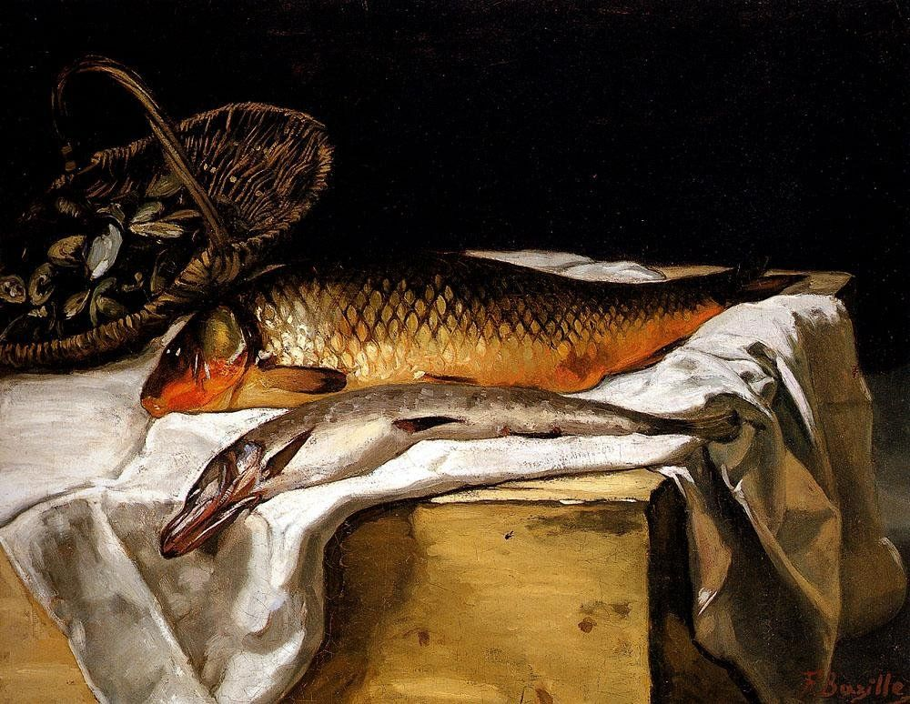 Frederic Bazille Still Life with Fish