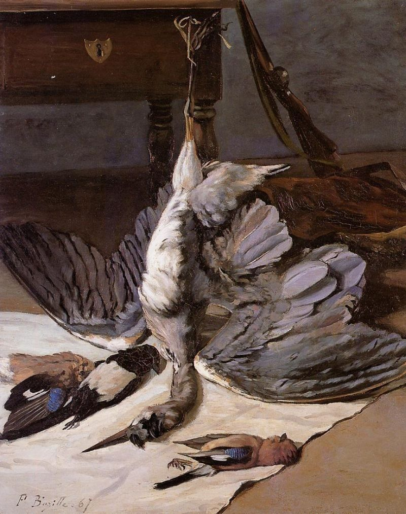Frederic Bazille Still Life with Heron