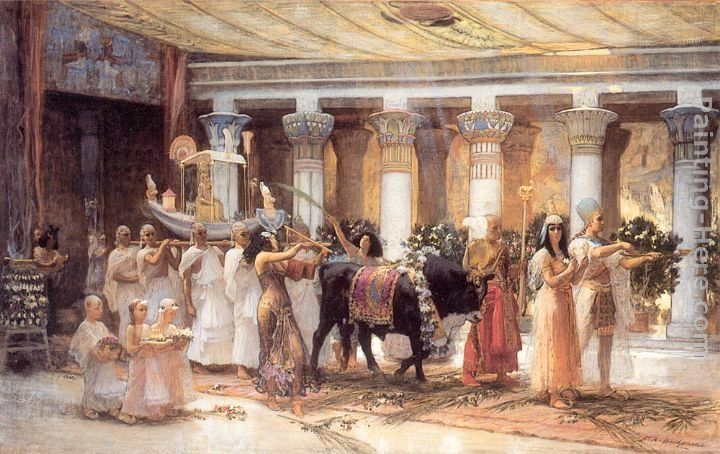 Frederick Arthur Bridgman The Procession of the Sacred Bull Anubis